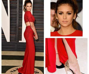 Nina Dobrev, oscar, and dress image