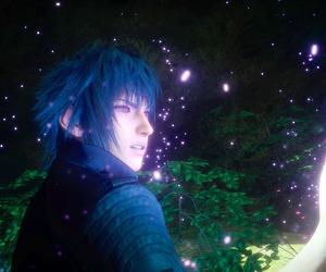 beautiful boy, blue, and final fantasy image