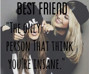 best friend, quotes, and friendship image