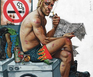 comic and hellblazer image