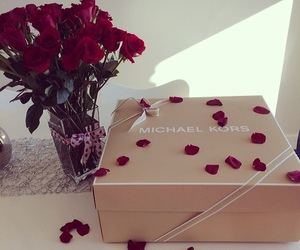 rose, Michael Kors, and gift image