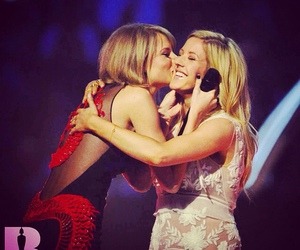 Taylor Swift, Ellie Goulding, and kiss image