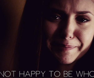 the vampire diaries, cry, and elena image