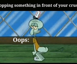 crush, funny, and oops image