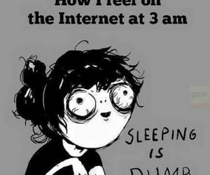 internet, funny, and sleep image