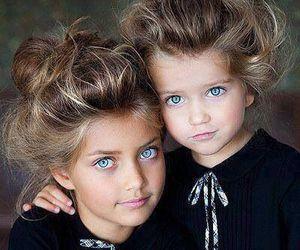 beaute, enfants, and regards image