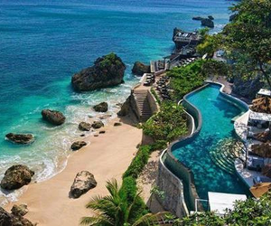 beach, pool, and paradise image