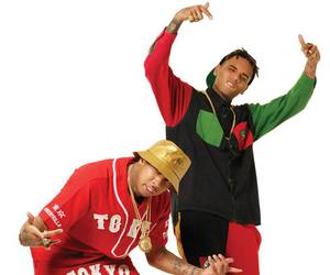 chris brown, gold, and tyga image
