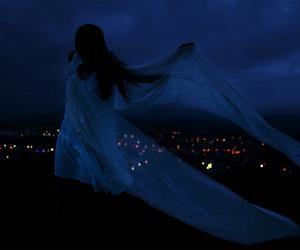 girl, dark, and light image