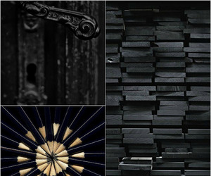 black, colours, and door image