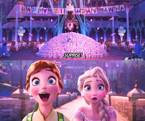 anna, birthday party, and frozen image