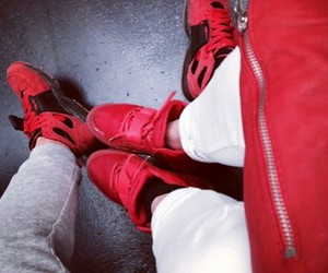 couple, red, and shoes image