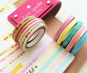 kate spade, planner, and tape image