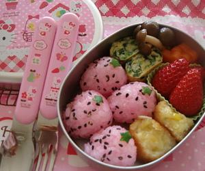 food, kawaii, and pink image