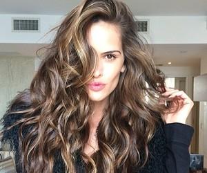 hair, model, and brunette image
