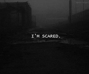 scared, dark, and sad image