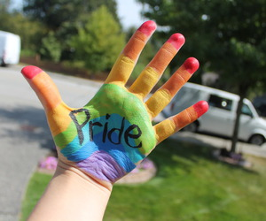 pride, colorful, and hand image