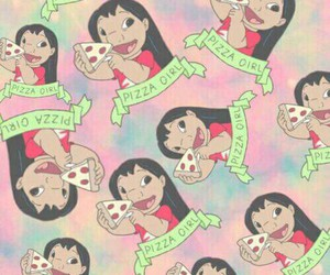 pizza, lilo, and wallpaper image