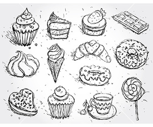 bakery, cupcake, and doodle image