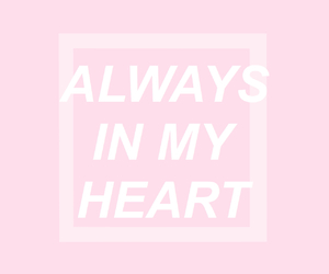 pink, heart, and always image