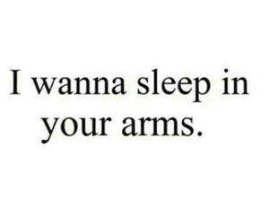 love, sleep, and arms image