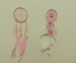 Dream, dreamcatcher, and pink image
