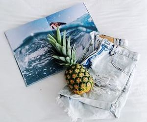 pineapple, sea, and style image
