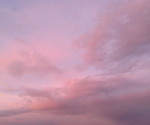pink, sky, and clouds image