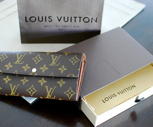 Louis Vuitton, LV, and wallet image