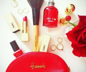cosmetics, gold, and harrods image