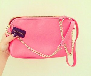 pink, bag, and forever 21 image