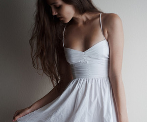 dress, white, and summer outfit image