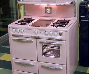pink and stove image