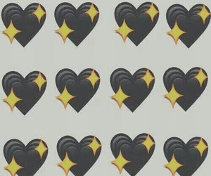wallpaper, black, and heart image