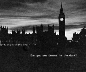 dark, demons, and quote image