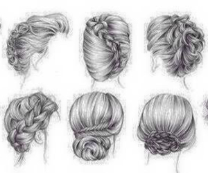 hair, updos, and hairstyles image
