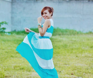 blue, dress, and girl image