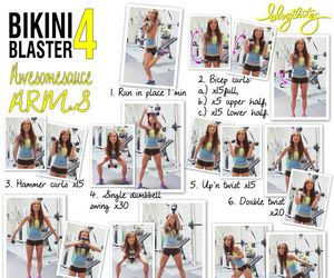 arms, fitspiration, and blogilates image