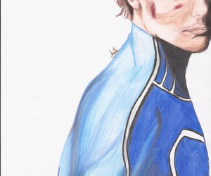 drawing, hero, and louis tomlinson image