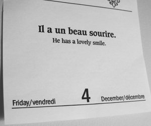 calendar, french, and smile image
