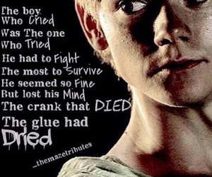 thomas brodie-sangster, newt, and glue image