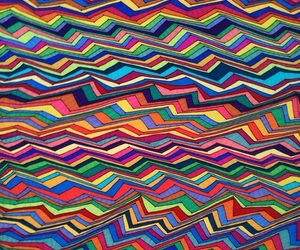 colorful, stripes, and trippy image
