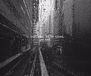 rain, window, and black and white image