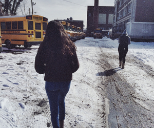 boots, bus, and cold image