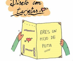 card, cards, and frases image