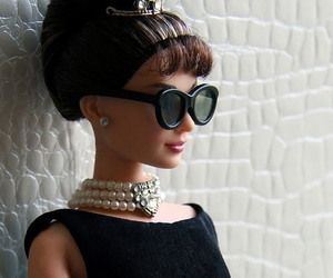 barbie, doll, and audrey hepburn image