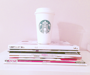 coffee, Elle, and magazines image