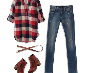 casual, girl, and jeans image