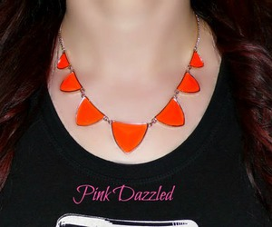 necklace, neon necklace, and orange necklace image