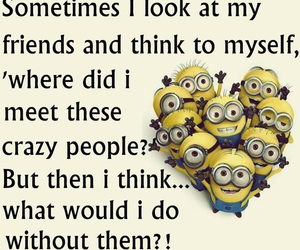crazy, minions, and quote image